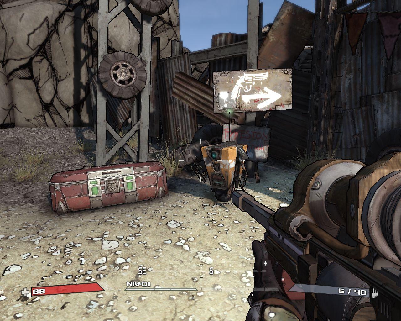 Faut pas croire, les robots de Borderlands sont fourbes!