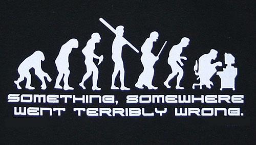 Quelque chose, quelque part s'est mal passé!