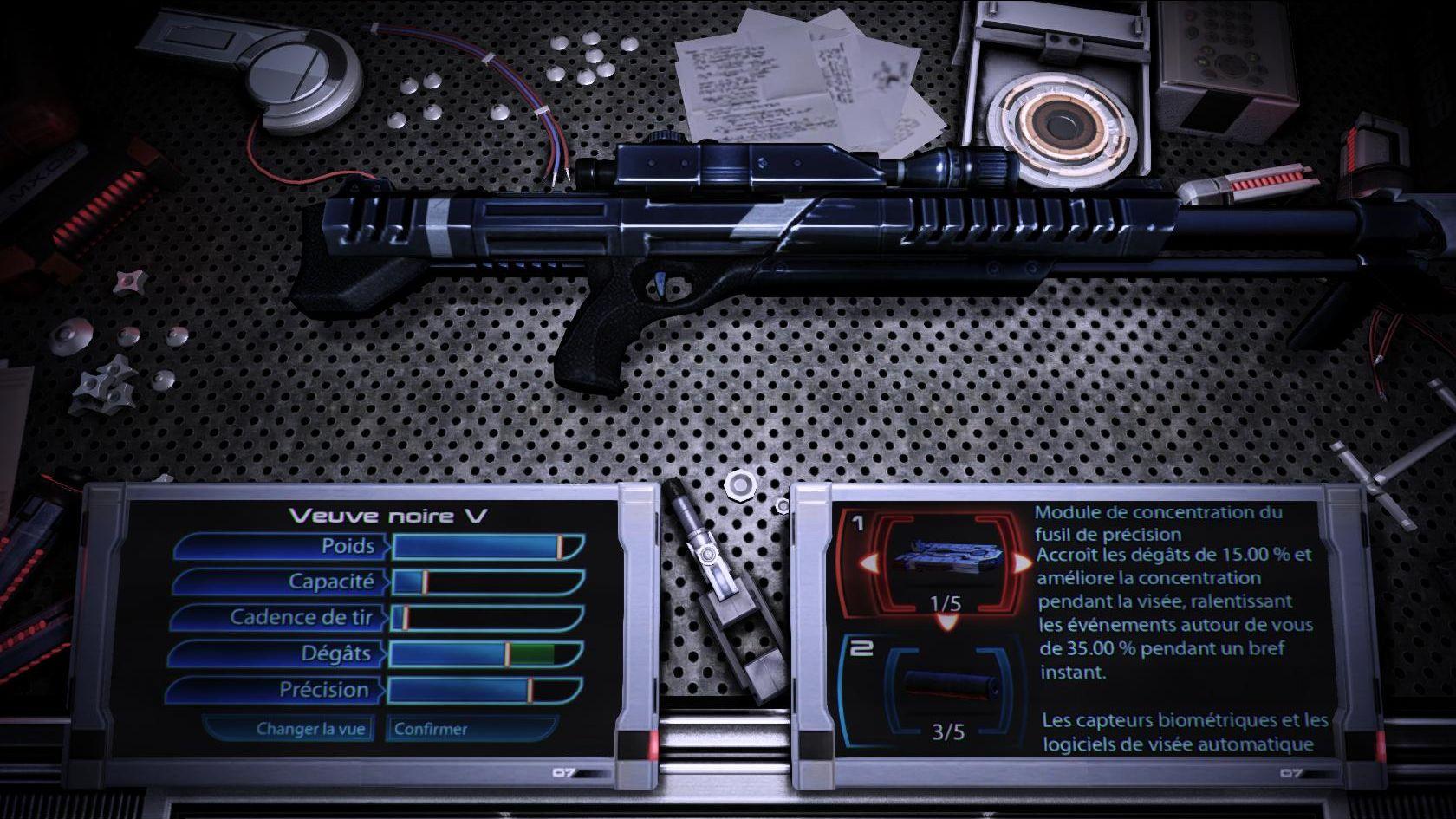 L'atelier de modification des armes