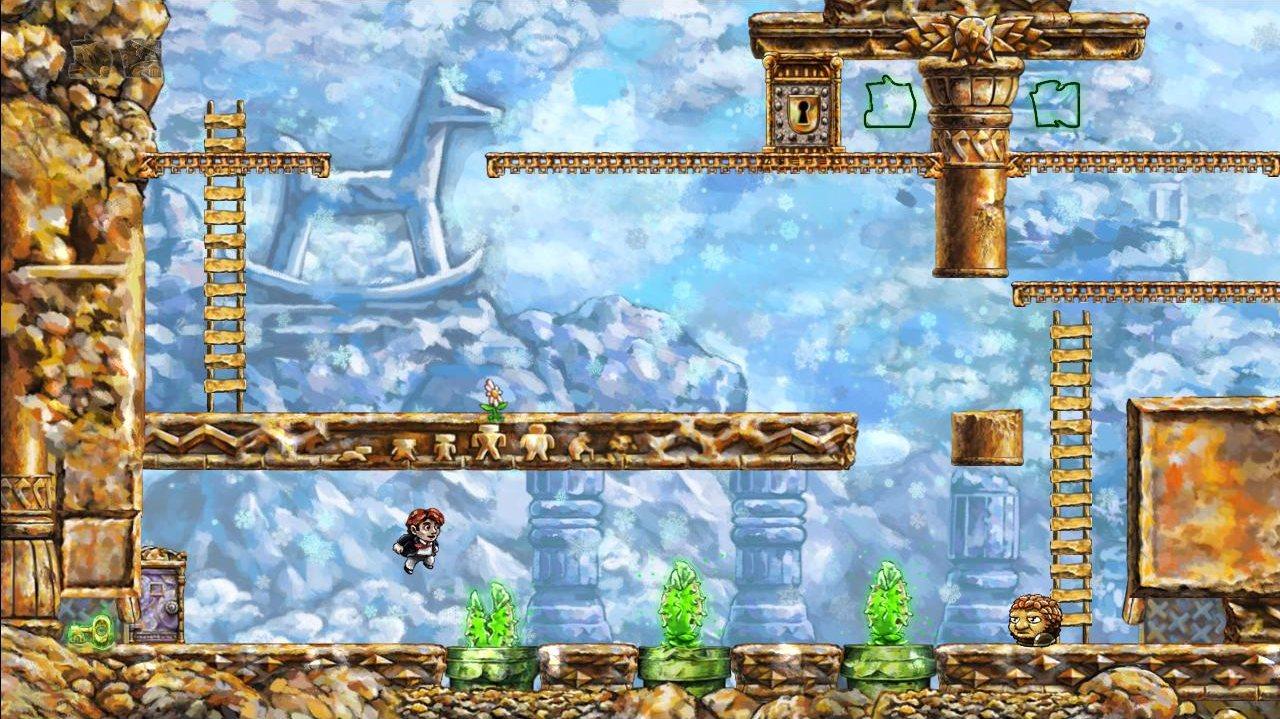 Plate-formes et énigmes temporelles, avec des clins d'oeil à Mario