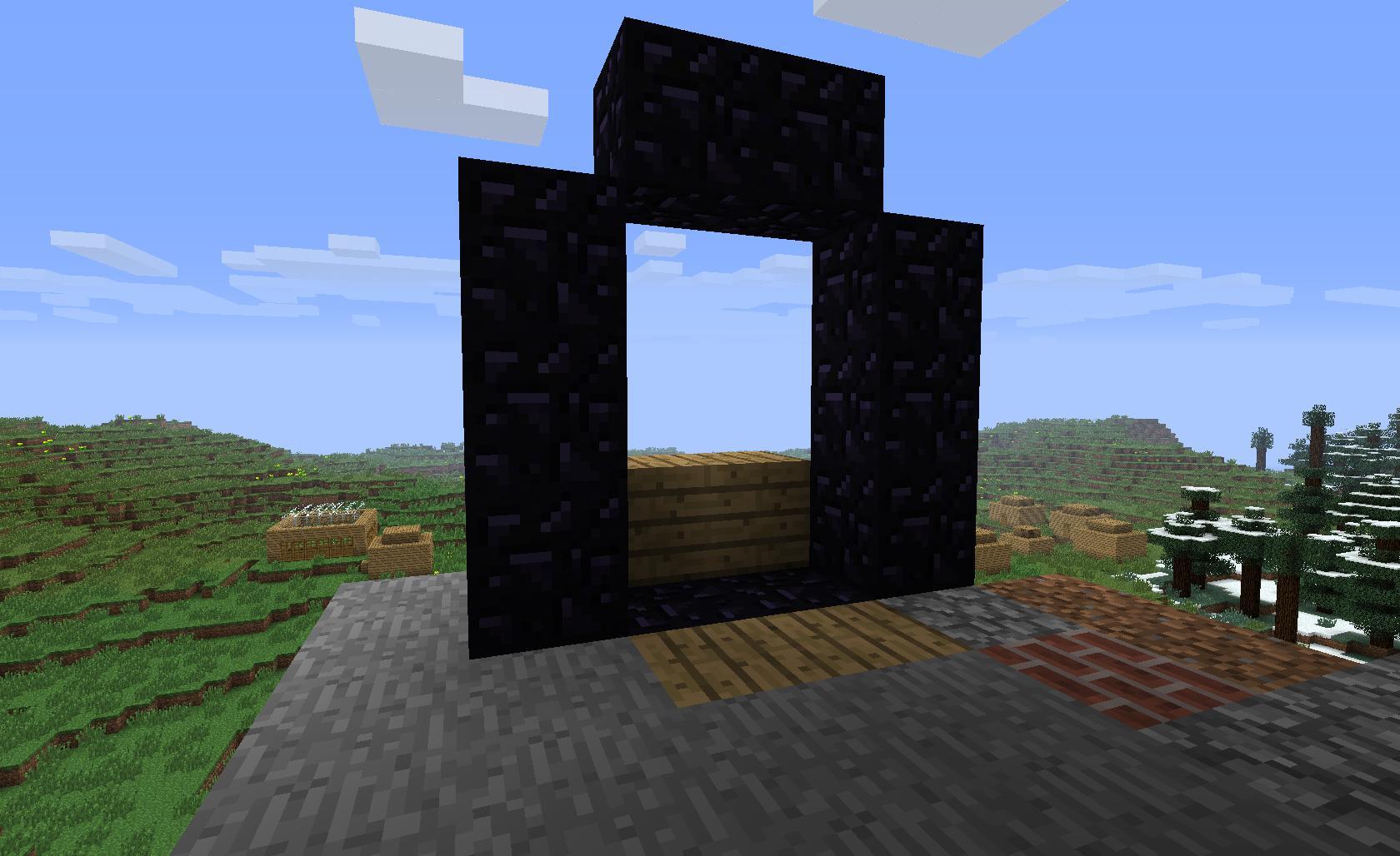 Comment poser le bois pour que le feu puisse ouvrir le portail.