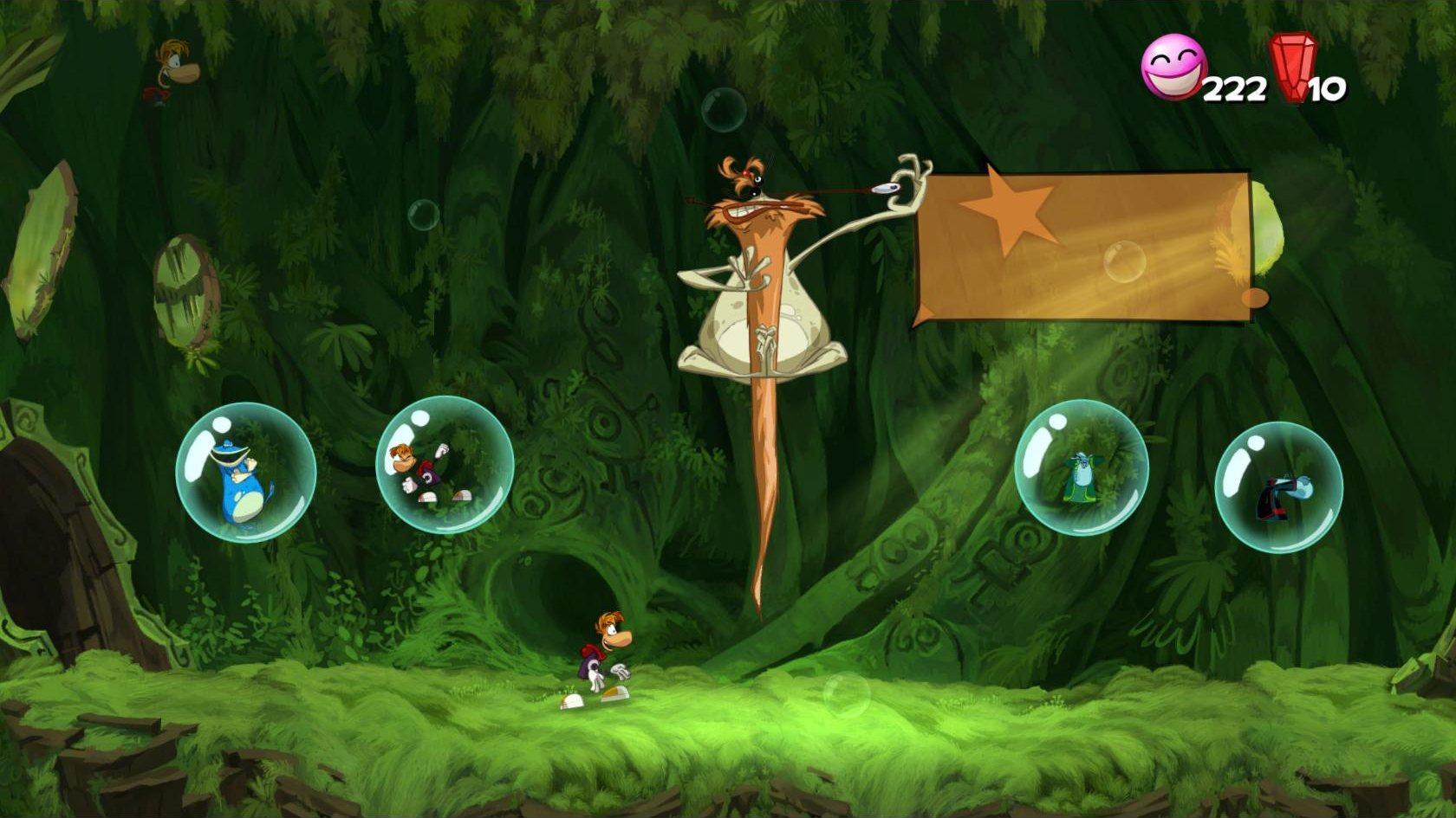 Les différentes... euh... créatures dans Rayman Origins.