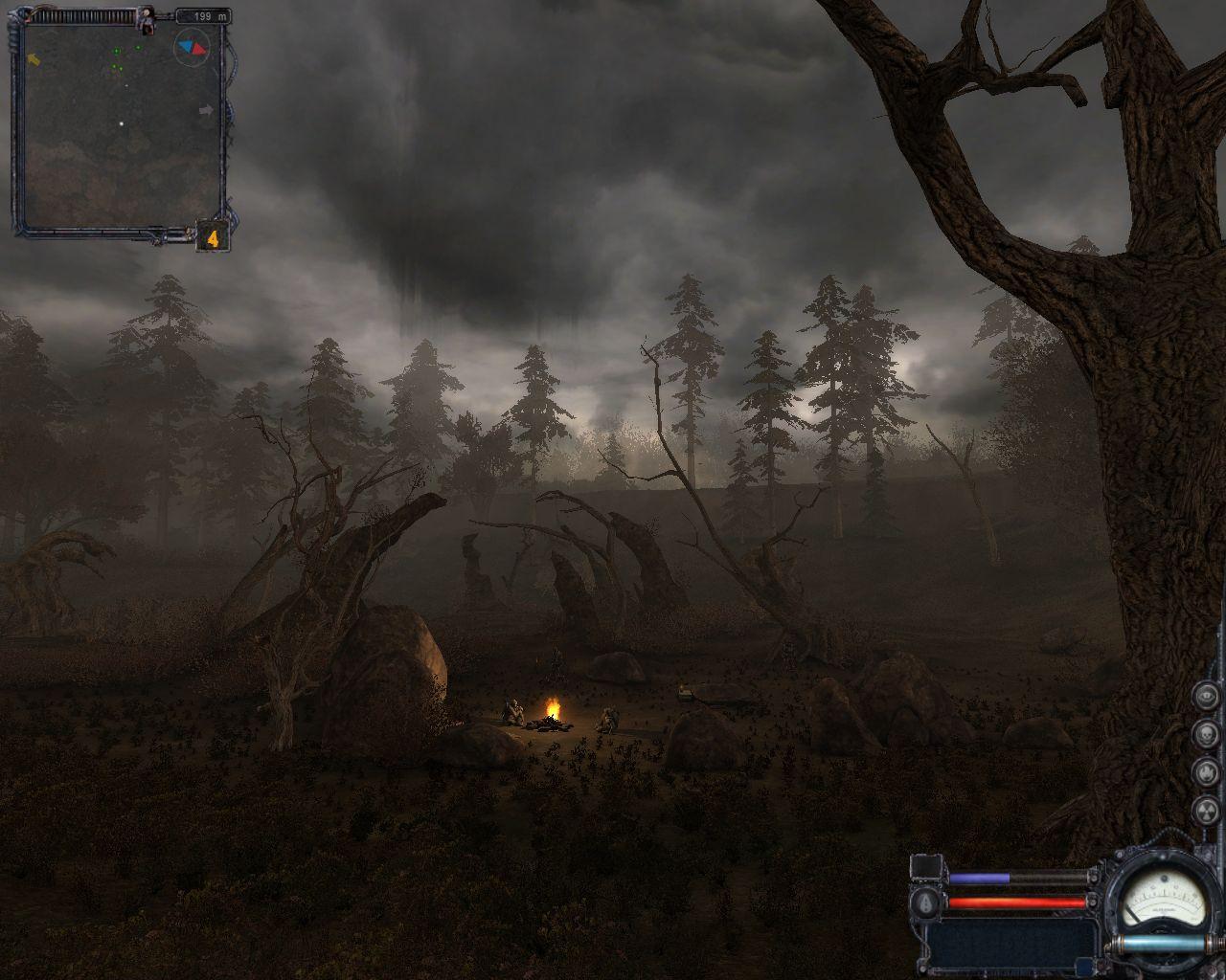 Brume et pluie dans Stalker