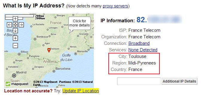 Oui, je suis bien en France !